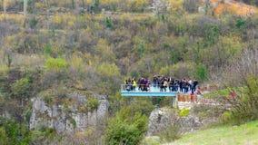 INCEKAYA ΦΑΡΑΓΓΙ, SAFRANBOLU, ΤΟΥΡΚΊΑ - τον Απρίλιο του 2015 άποψη από το πεζούλι κρυστάλλου απόθεμα βίντεο