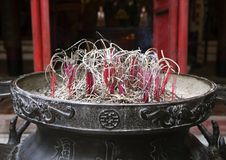 Incence burner in Ngoc Son temple, Hanoi royalty free stock image