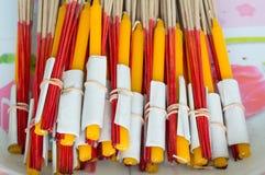 Incence e velas de Bubdha Imagem de Stock