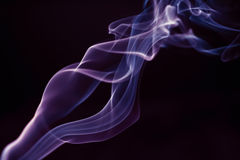 Incence smoke like a torch Royalty Free Stock Images