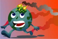 Incendi forestali che inquinano il mondo Immagini Stock Libere da Diritti