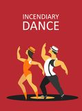Incendiary dance Stock Images