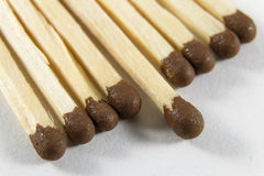 Incendiary heads of matches Stock Image