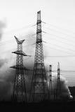 Incendie à la centrale électrique Photos stock