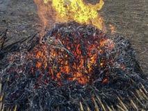 Incendie énorme images stock