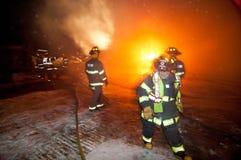 Incendie 01-07-2012 de construction de DuBois Images libres de droits