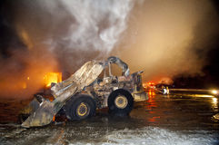 Incendie 01-07-2012 de construction de DuBois Photographie stock libre de droits