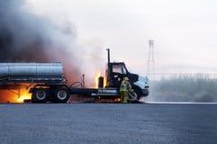 Incendie 1 de camion Photographie stock libre de droits