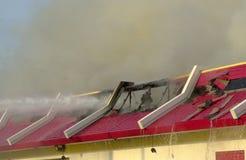 Incendie 11 de restaurant Images libres de droits