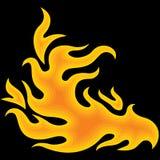 Incendie au-dessus de noir Image libre de droits