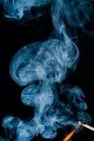 Incendie avec de la fumée Photo libre de droits