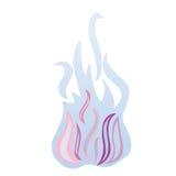 Incendie bleu Illustration Stock