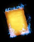 Incendie bleu Images libres de droits