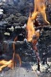 Incendie brûlant Photo libre de droits