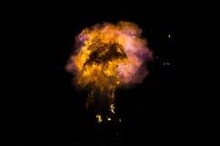 Incendie brûlant la nuit Photographie stock