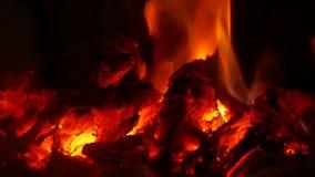 Incendie br?lant dans la chemin?e banque de vidéos