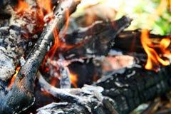 Incendie campant Images libres de droits