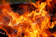 Incendie chaud Images stock