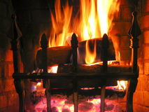 Incendie chaud crépitant photo libre de droits