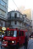 Incendie chez Cicek Pasaji Images libres de droits