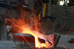 Incendie d'étincelle Photo stock