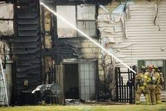 Incendie d'appartement photo libre de droits