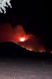 Incendie d'Elsinore de lac, montagnes d'Ortega Images stock