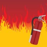 incendie d'extincteur Photographie stock libre de droits