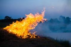 Incendie d'herbe photographie stock libre de droits