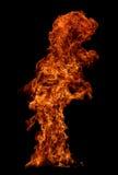 Incendie d'isolement sur le fond noir photographie stock