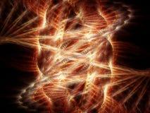 Incendie dans l'espace Image libre de droits