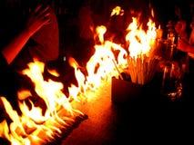 Incendie dans le bar Photos stock