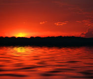 Incendie dans le ciel Photo libre de droits
