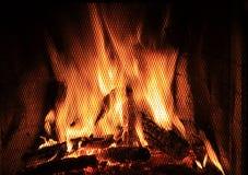 Incendie dans une cheminée Image libre de droits