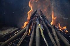Incendie de barbecue Photo stock