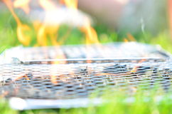 Incendie de BBQ Photos stock