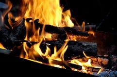 Incendie de bois Image libre de droits