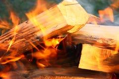 Incendie de bois Photo stock