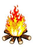 Incendie de camp illustration de vecteur