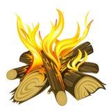Incendie de camp illustration libre de droits