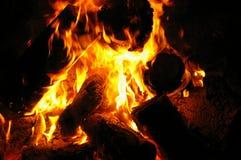 Incendie de camp Photographie stock
