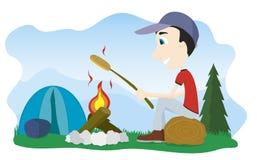 Incendie de camp Photographie stock libre de droits