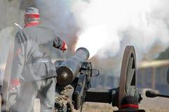 Incendie de canon Image libre de droits