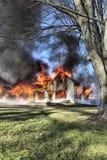 Incendie de Chambre Images libres de droits