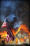 Incendie de Chambre Photos libres de droits