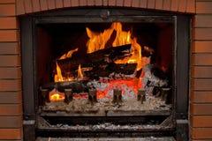 Incendie de cheminée Photographie stock