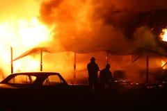 Incendie de combat Photographie stock libre de droits