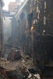 incendie de construction Images libres de droits