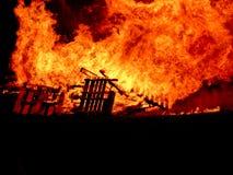 Incendie de fève Images libres de droits