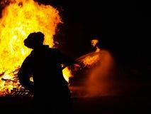 Incendie de fève Images stock